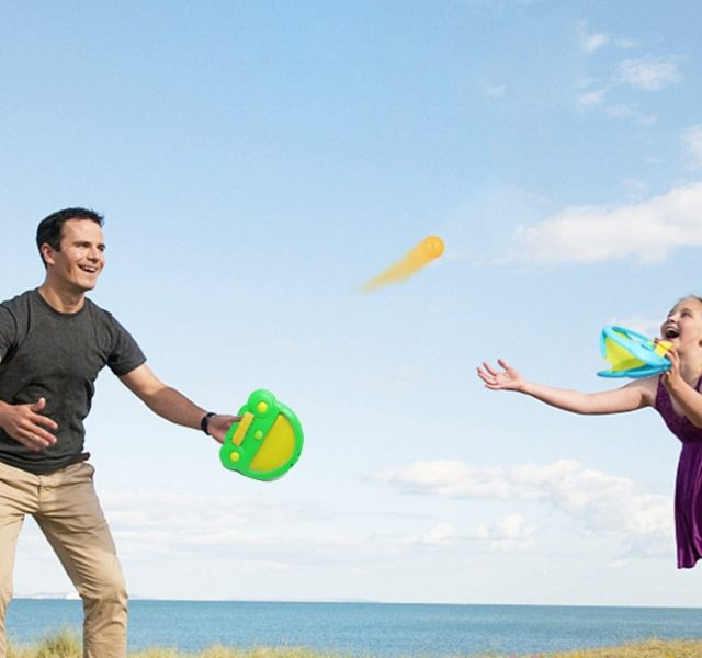 Family Camping Ball Game. A Holiday From Screen Time