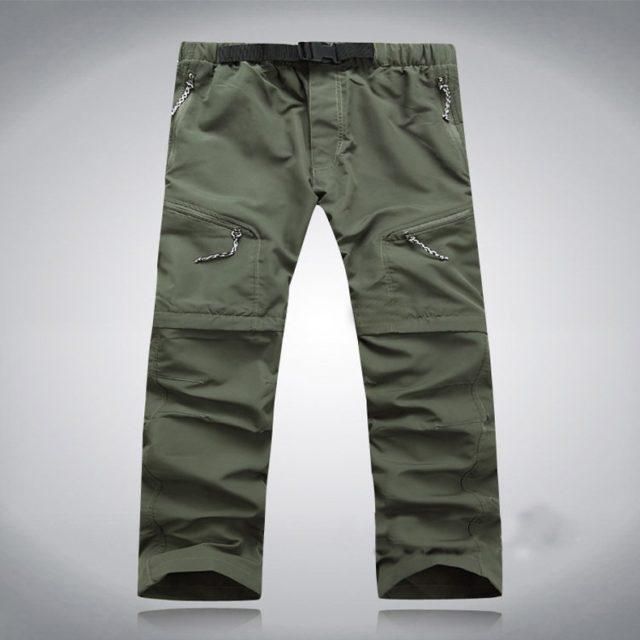 Outdoor Convertible Breathable Nylon Men's Long & Shorts Hiking Pants