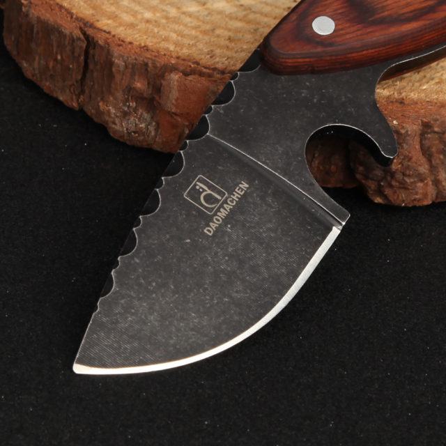 Tactical Camping Knife. Hand Built From High Tensile Stainless Steel & Sustainably Sourced Hardwood. Adult Use Only